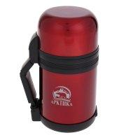 Термос бытовой нерж., вакуумный, универсальный   800 мл красный, 2 чашки