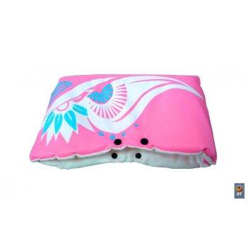 Муфта для рук зимняя сказка флис розовый