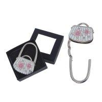 Крючок-подвеска для сумки раскладной сумка с цветами, цвета микс
