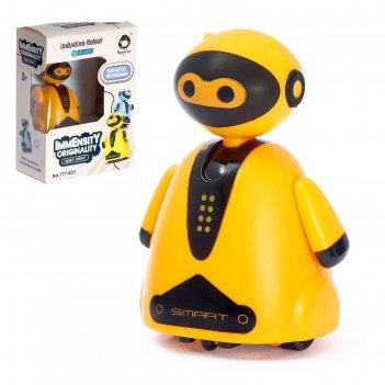 Робот умный бот, ездит по линии, световые эффекты, работает от батареек, ц