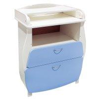 Пеленальный комод, 2 выдвижных ящика, цвет голубой