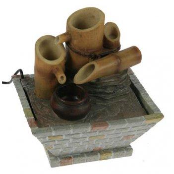 Фонтан декоративный бамбук с подстветкой 16*13*16см