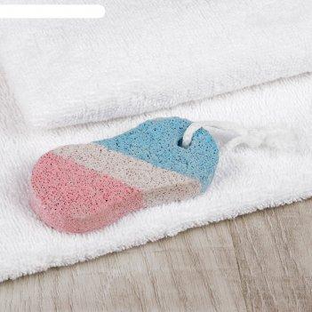 Пемза для педикюра «бесконечность», 9,5 x 4,5 см, цвет белый/синий/красный