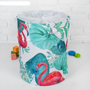 Корзина для хранения игрушек «фламинго» 35x35x45 см