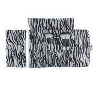 Набор для макияжа зебра, 12 предметов, футляр на замке, бело-черный