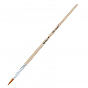 Кисть синтетика круглая зхк эконом № 3 короткая ручка 139677