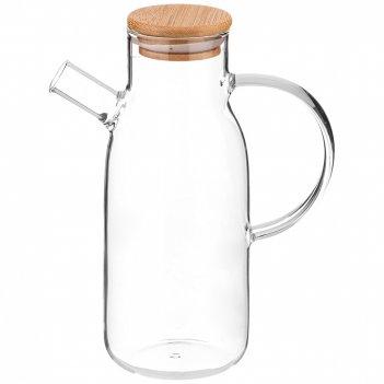 Бутылка для масла/уксуса 700 мл. с бамбук.крышкой диаметр=5,5 см. высота=1