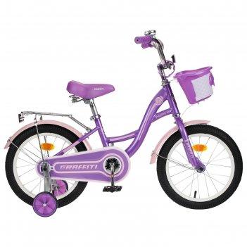 Велосипед 16 graffiti premium girl, цвет сиреневый/розовый