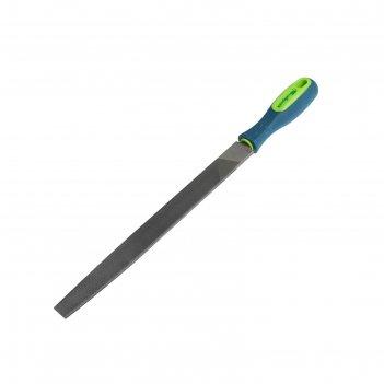 Напильник сибртех 16230, 250 мм, плоский, двухкомпонентная рукоятка, №2