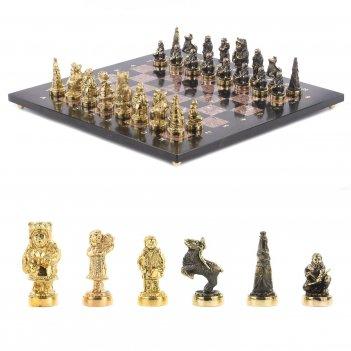 Шахматы северные народы бронза креноид 400х400 мм