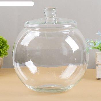 Ваза-шар сфера с крышкой 5 л
