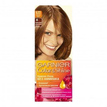Garnier краска для волос color&shine 6.23 лесной орех, 110 мл