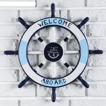 Штурвал welcom aboard 45*45*3 см.