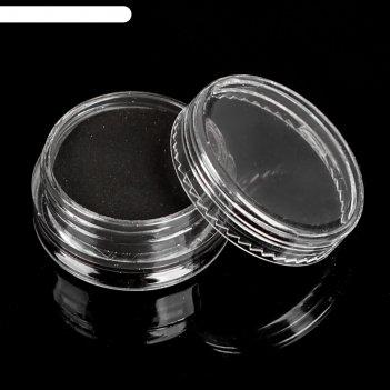 Акриловая пудра для декора, 3 гр, цвет чёрный