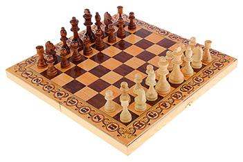 Шахматы, шашки, нарды средние 3в1 дебют 40 см