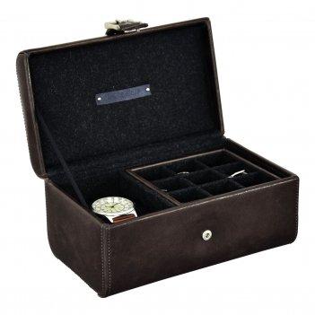 Lc designs 73800 бокс для часов и запонок коричневого цвета, серия - jacob