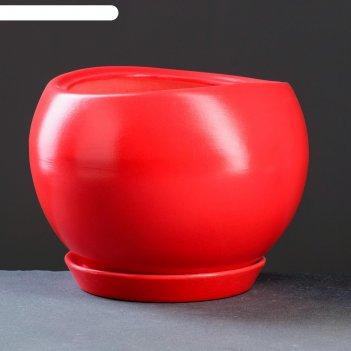 Горшок цветочный адель 2, 3,5 л,  красный
