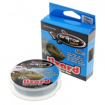 Леска капрон lizard серая d=0,5 мм, 100 м, 18,7 кг