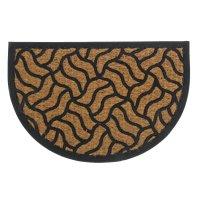 Коврик придверный полукруглый плетение 40х60 см с окантовкой