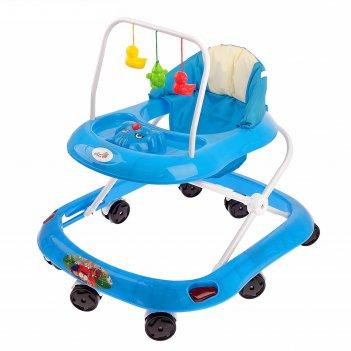 Ходунки «маленький водитель», звуковые эффекты, цвет синий