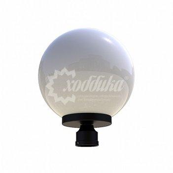 Светильник венчающий «шар» белый