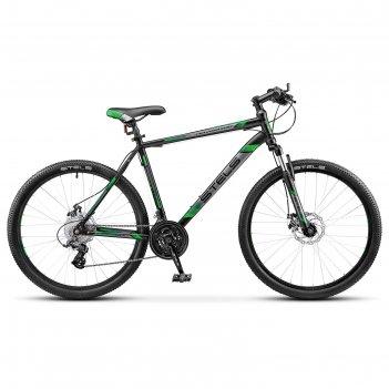 Велосипед 26 stels navigator-500 md, v020, цвет чёрный/зелёный, размер 16