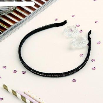 Ободок для волос лира чёрный 0,5 см