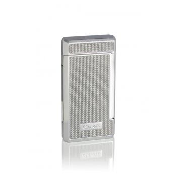 Зажигалка caseti газовая турбо, хромированная + серебристый ка