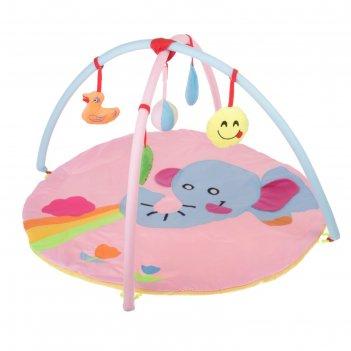 Коврик развивающий с дугами «слоник», 5 игрушек