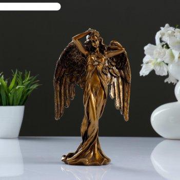 Фигура ангел золото 7х13х22,5см