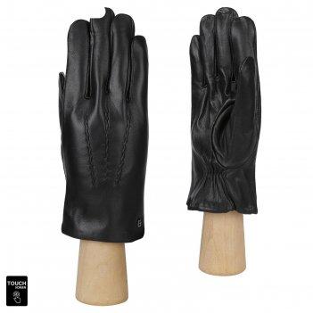 Перчатки мужские, натуральная кожа (размер 8) черный, touchscreen