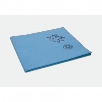 Салфетка для профессиональной уборки микронквик 38х40 см, цвет голубой