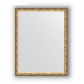 Зеркало в багетной раме - витая латунь 26 мм, 34 х 44 см, evoform