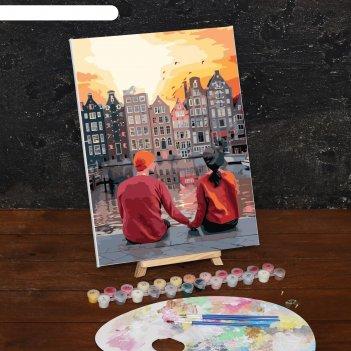 Картина по номерам на холсте романтичный вечер, 40*30 см