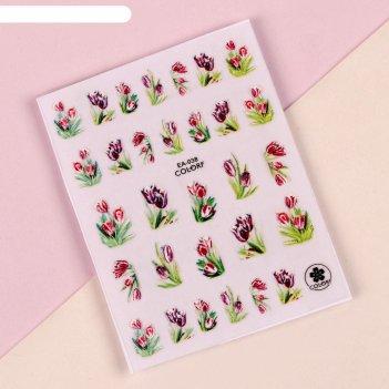 Наклейки для ногтей «вальс цветов» 5d