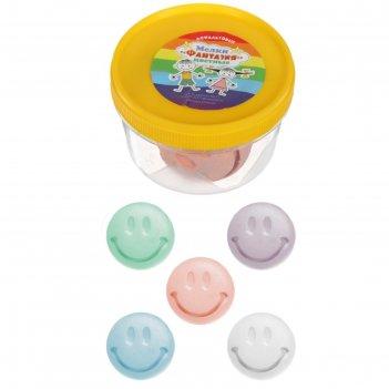 Мелки цветные для асфальта (фигурные) 5 штук 5цв фантазия улыбка пласт ста