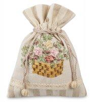 Lk-21 мешочек из льна садовые цветы