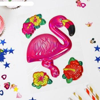 Наклейки на воздушные шары фламинго