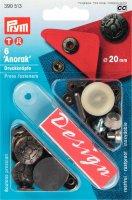 Непришивные кнопки anorak (латунь)  fusion цв.старого серебра 20 мм, 6 шт