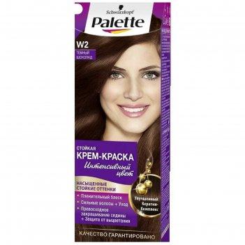 Крем-краска для волос palette, тон w2, тёмный шоколад