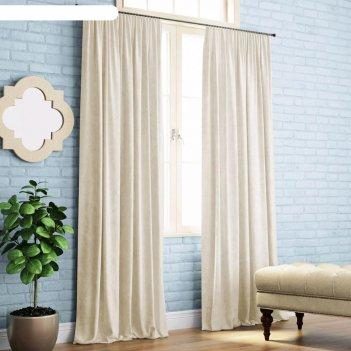 Комплект штор «ким», размер 200 x 270 см-2 шт, айвори
