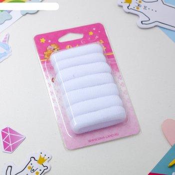 Резинки для волос махрушка (набор 7 шт.), белые
