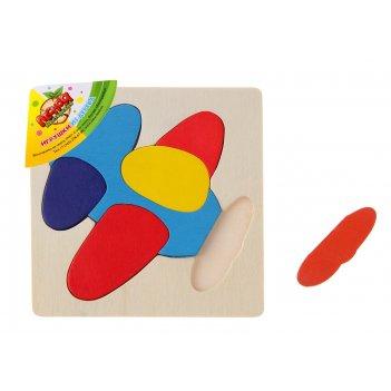Рамка - вкладыш, формы и цвета вертолёт, 7 элементов