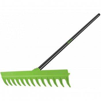 Грабли прямые, прямой зуб, 12 зубцов, пластик, металлический черенок, «нев