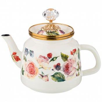 Чайник эмалированный, 1,0л высота=17 см. (кор=4шт.)