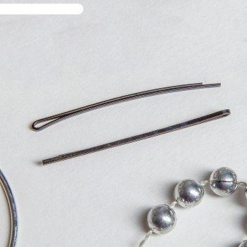 Невидимки для волос чёрные (набор 50 шт.)