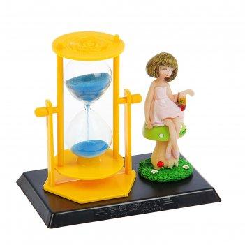 Часы песочные алиса, 9х14 см, микс