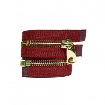Молния для одежды, разъёмная, №10, 75 см, цвет бордовый
