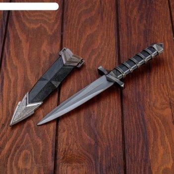 Сувенирный кинжал, 25см, черная витая рукоять