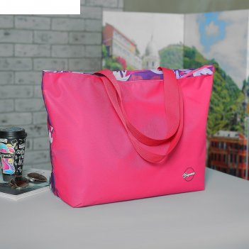 Сумка пляжная bagamas на молнии, 1 отдел, цвет микс